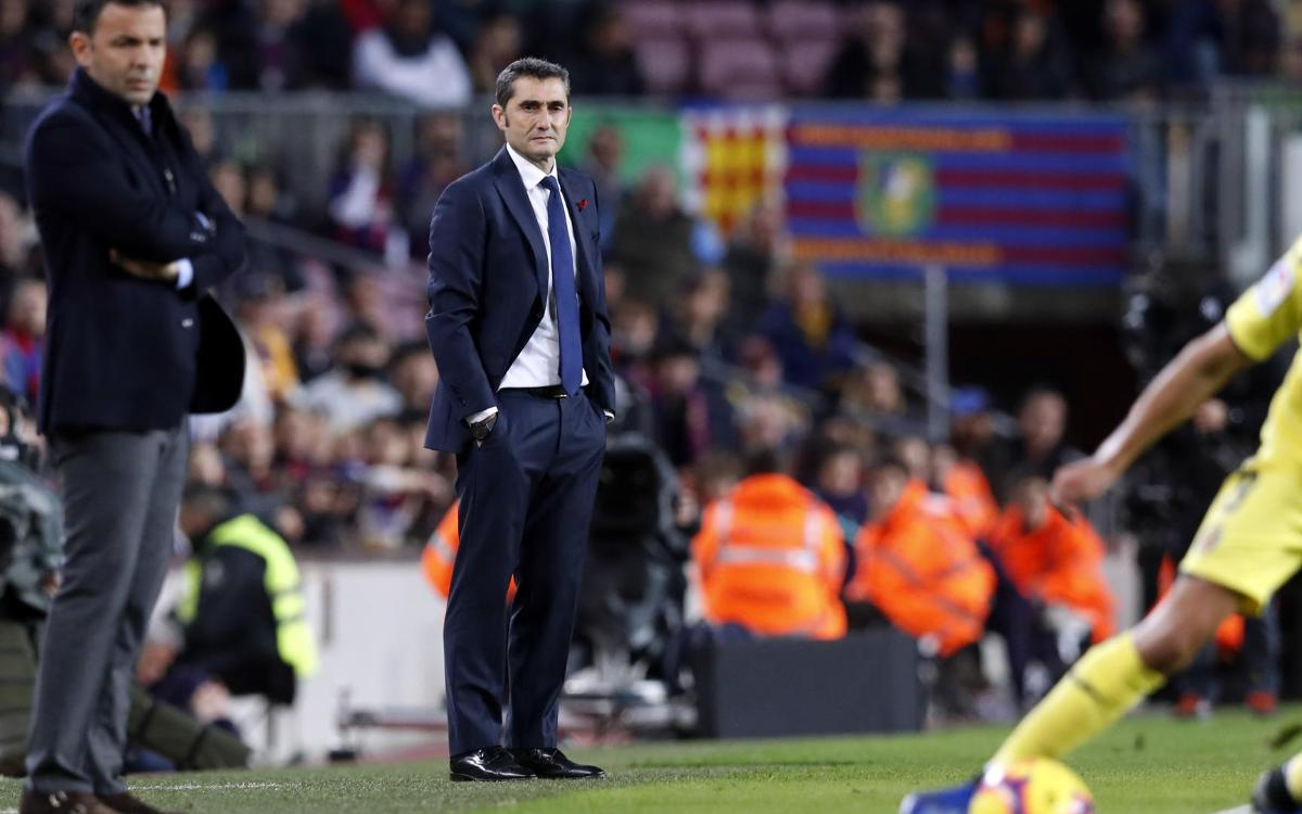 Ernesto Valverde: 'The goal is a prize for Aleñá'
