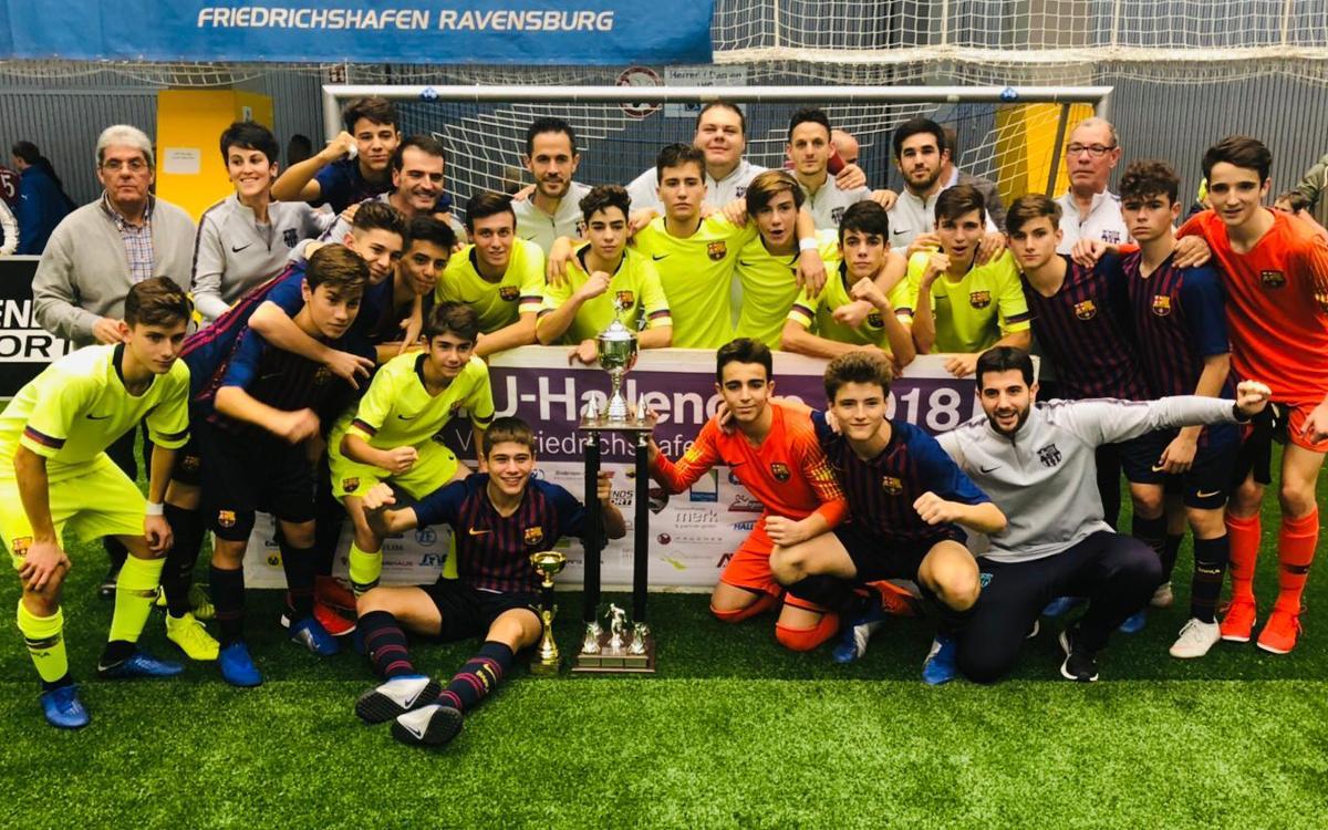 El Cadete B gana la MTU Hallen Cup
