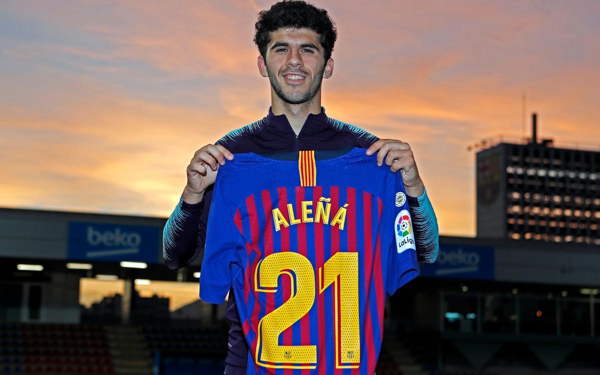 Aleñá, inscrito como jugador del primer equipo