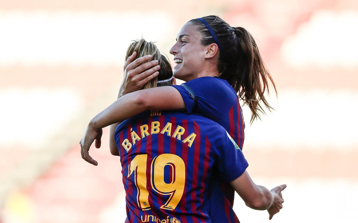 Sevilla FC – FC Barcelona: Alexia scores a brace in 2-0 win