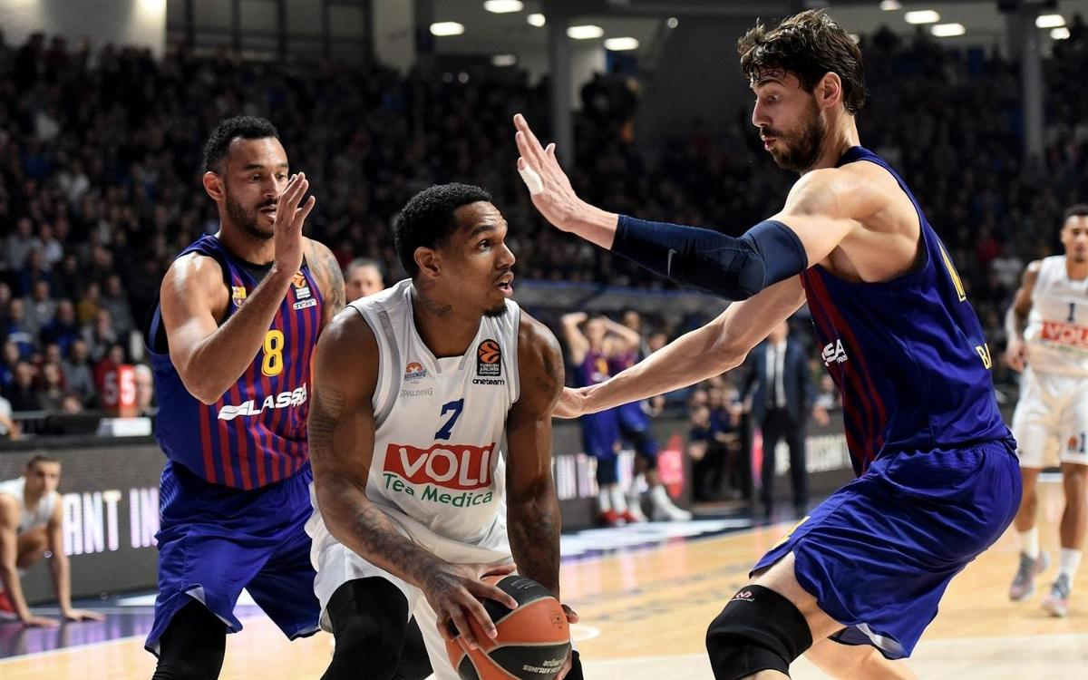 Buducnost Voli - Barça Lassa: Caen en un duelo gris (67-64)