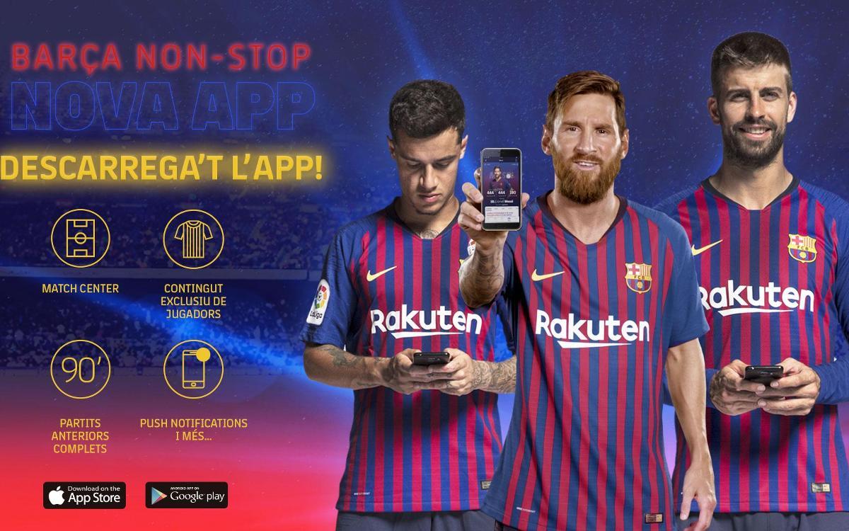 El FC Barcelona estrena web i app, eixos de la nova estratègia digital del Club