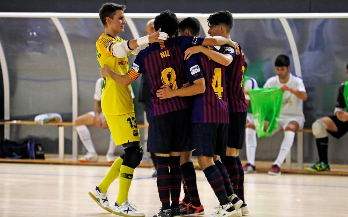 Barça Lassa B – Dimurol S. Tenerife: Triomf solvent (5-0)