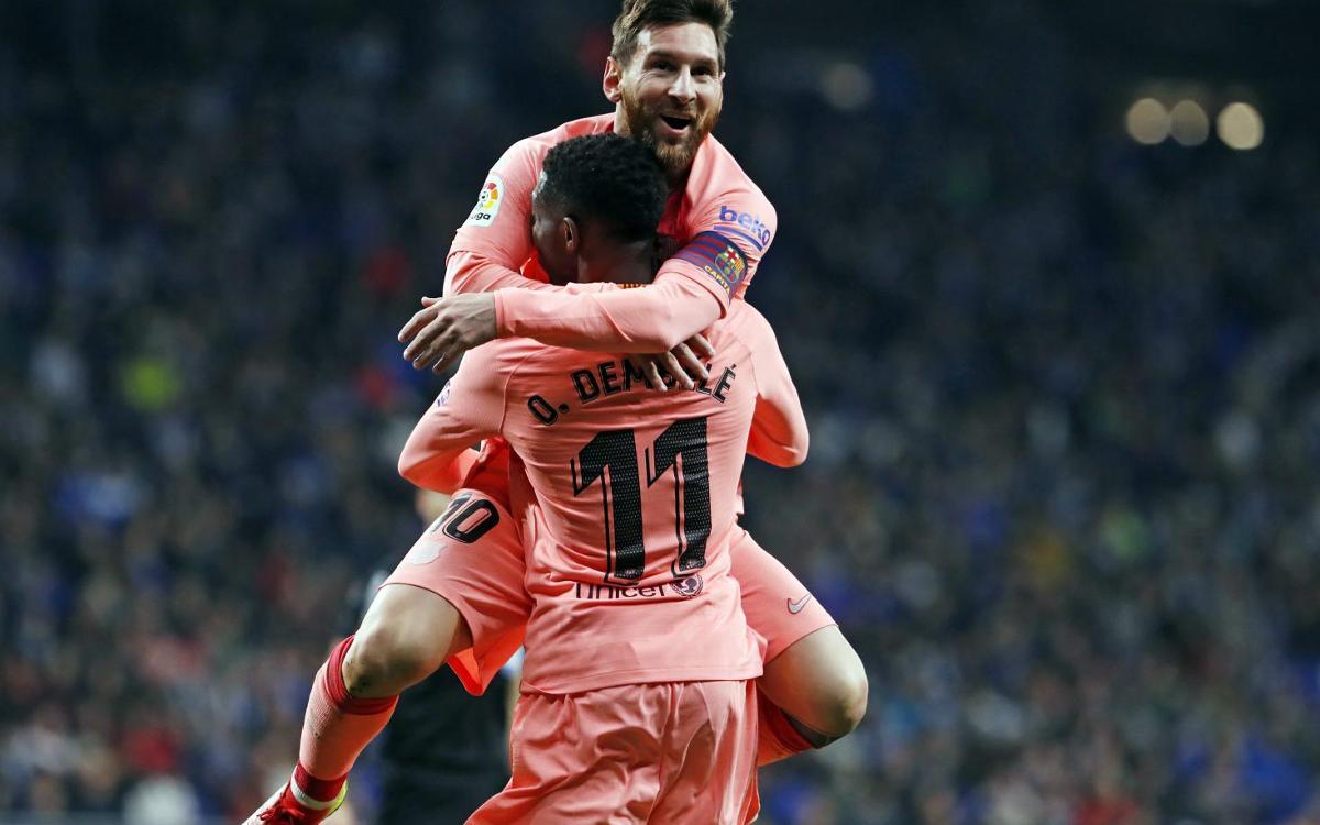 RCDエスパニョール - FCバルセロナ: メッシがもたらしたラビアンローズ (0-4)