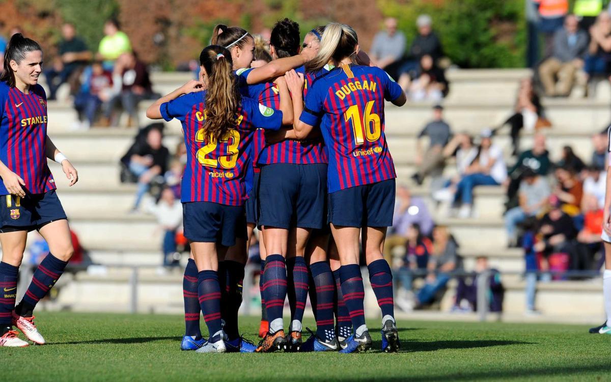 FC Barcelona - Madrid CFF: Pluja de gols blaugrana (7-0)