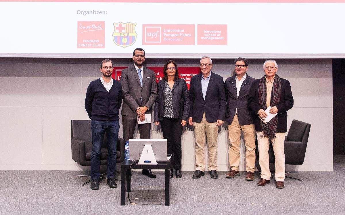 Presentación del libro de la V edición de los 'Diálogos académicos Ernest Lluch de Economía y Fútbol'