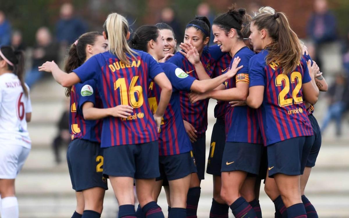 Barça Femenino - EDF Logroño: Triunfo trabajado para seguir arriba (2-0)