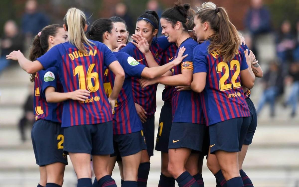 Barça Femení –  EDF Logronyo: Triomf treballat per seguir a dalt (2-0)