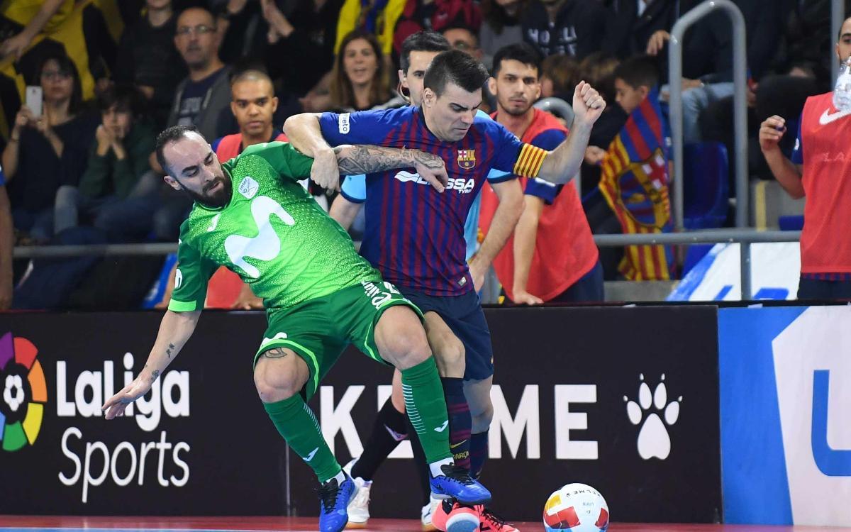 Barça Lassa - Inter Movistar: Empate con festival goleador (4-4)