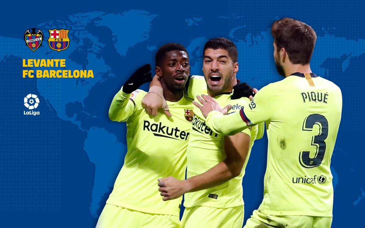 TV Guide: Levante vs FC Barcelona
