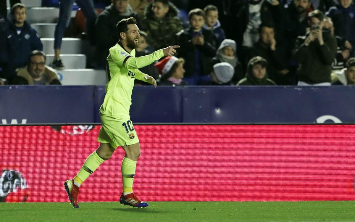 Another magic night for Messi