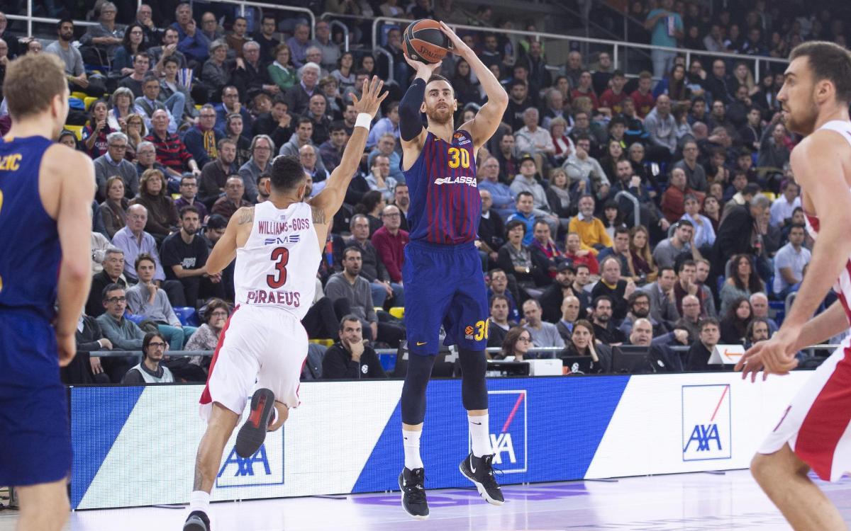 Barça Lassa – Olympiacos: Se escapa la victoria en el tercer cuarto (60-69)