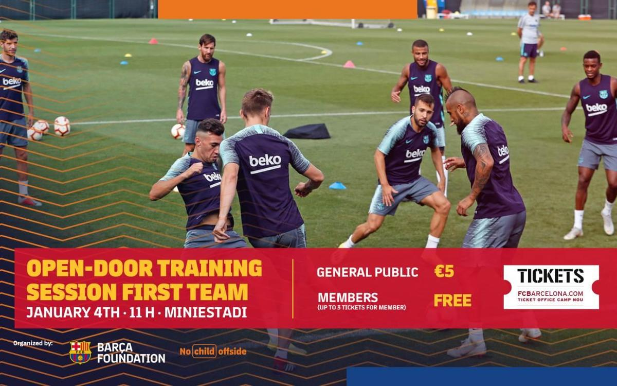Barça to hold annual open training session on January 4