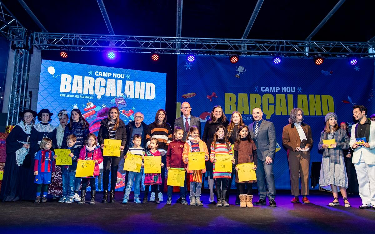 Inauguration of the space for Christmas activities at the Camp Nou