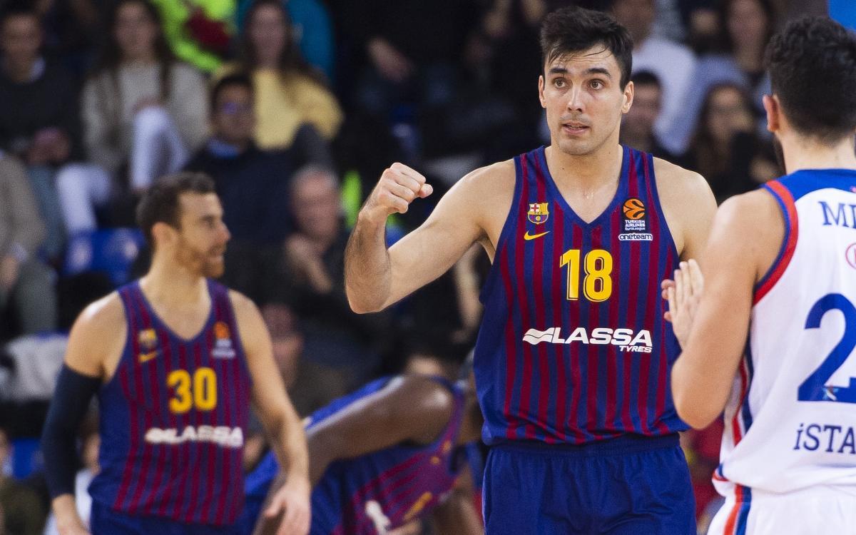 Barça Lassa - Anadolu Efes: Una reacción que vale un triunfo de prestigio (80-65)