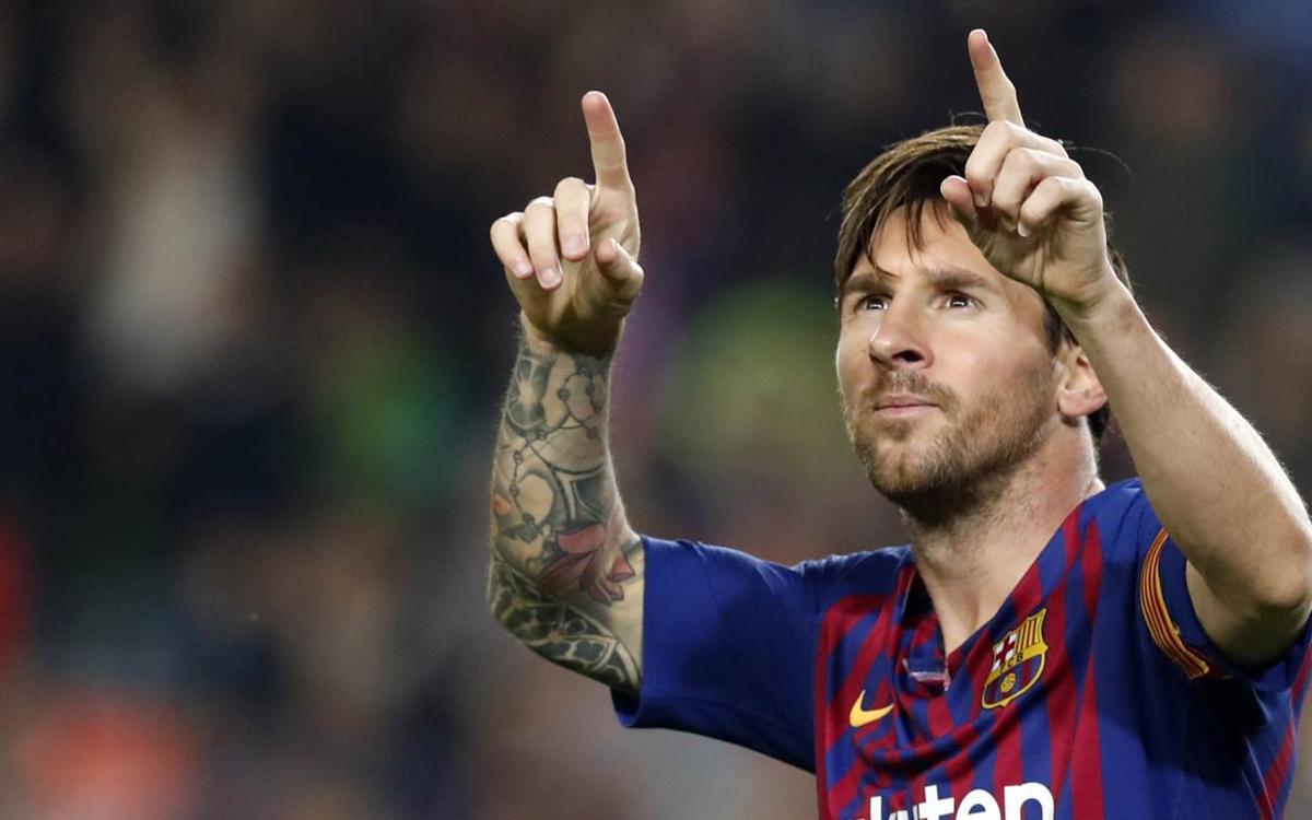 Lionel Messi, máximo goleador del año 2018