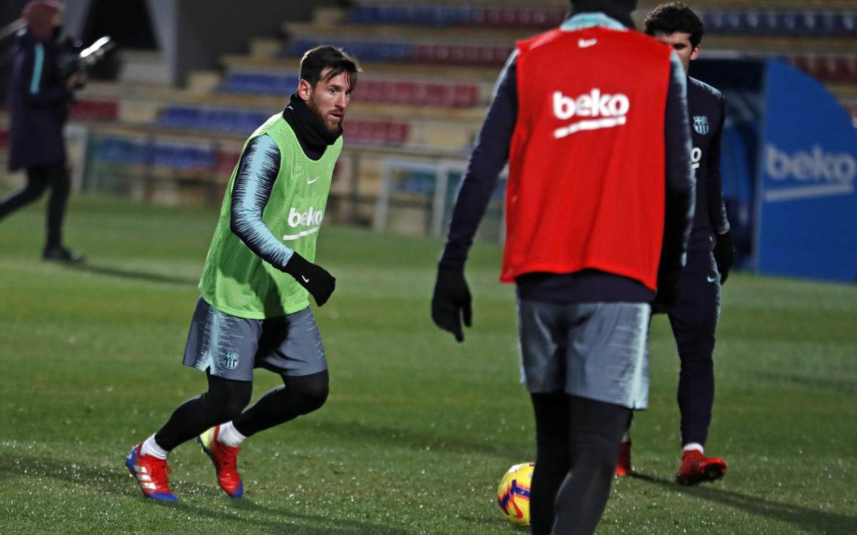 Back in training with all available players