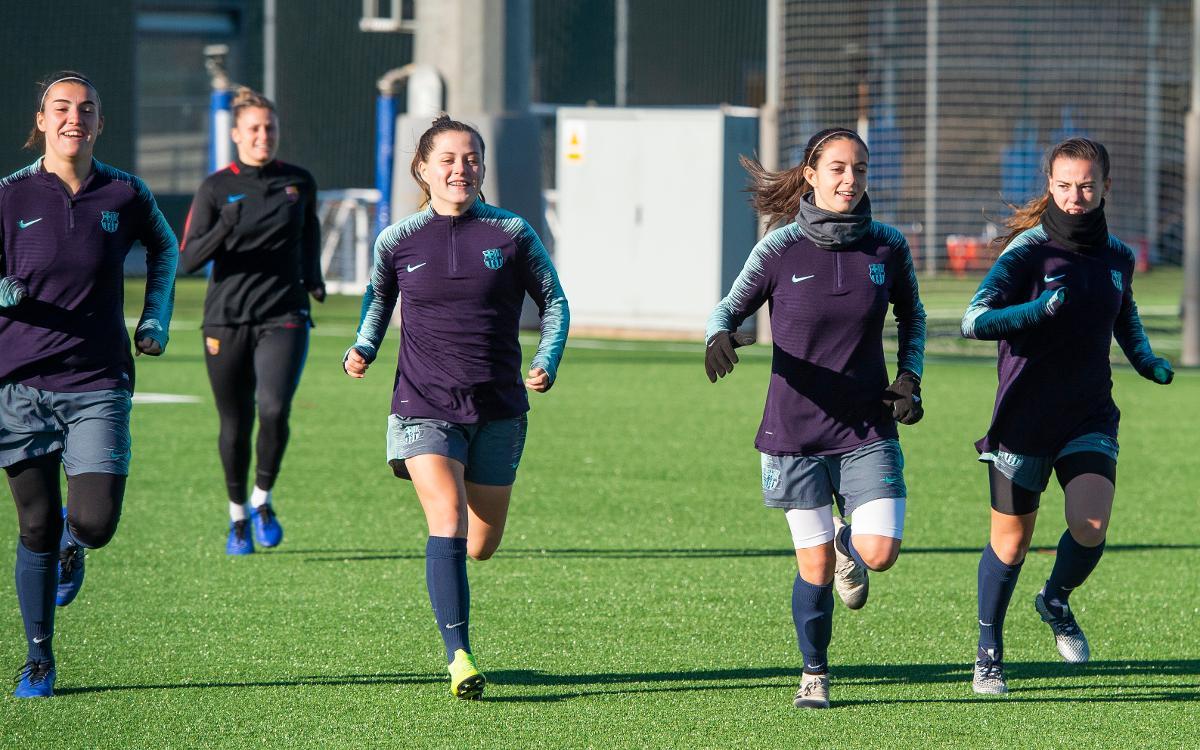 Primer entrenamiento del 2019 del Barça Femenino