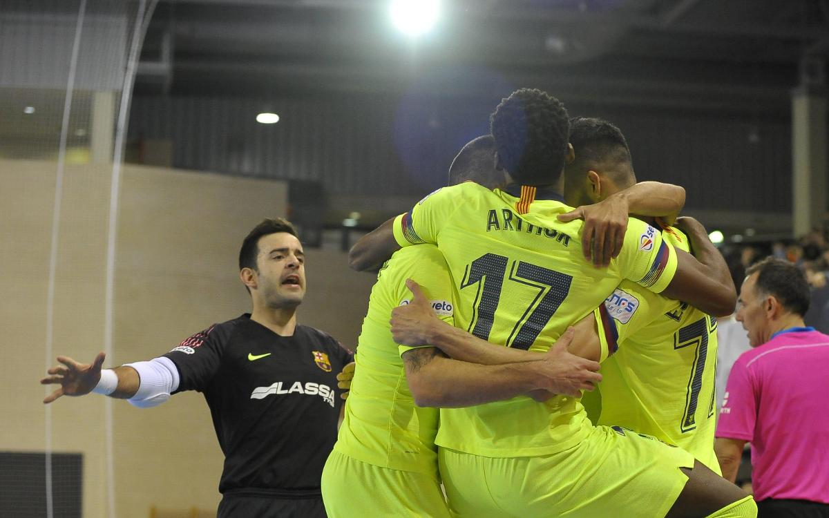 Fútbol Emotion Zaragoza 2–6 Barça Lassa: Victory thanks to a great first half