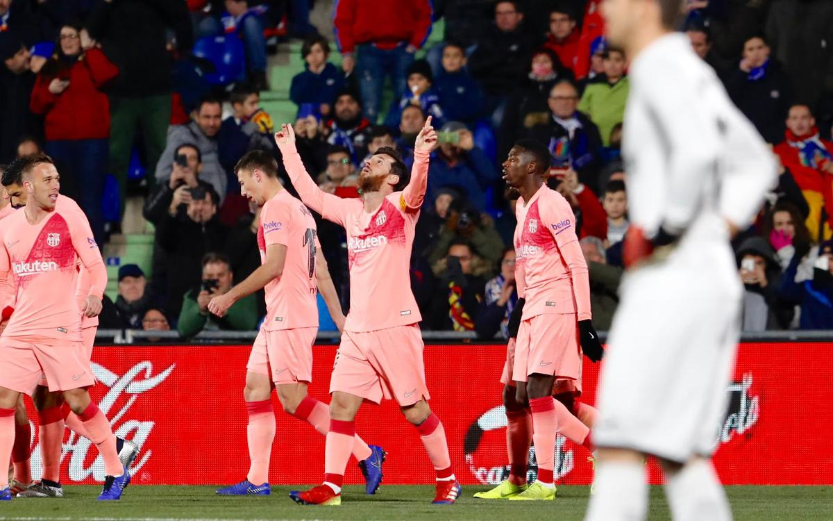 Getafe CF 1-2 FC Barcelona: Winning start to 2019