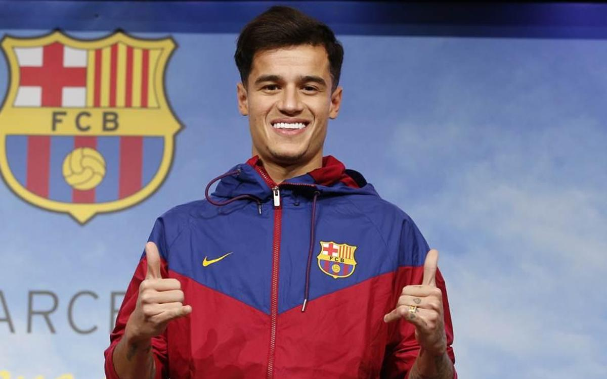 Coutinho celebrates a year at FC Barcelona