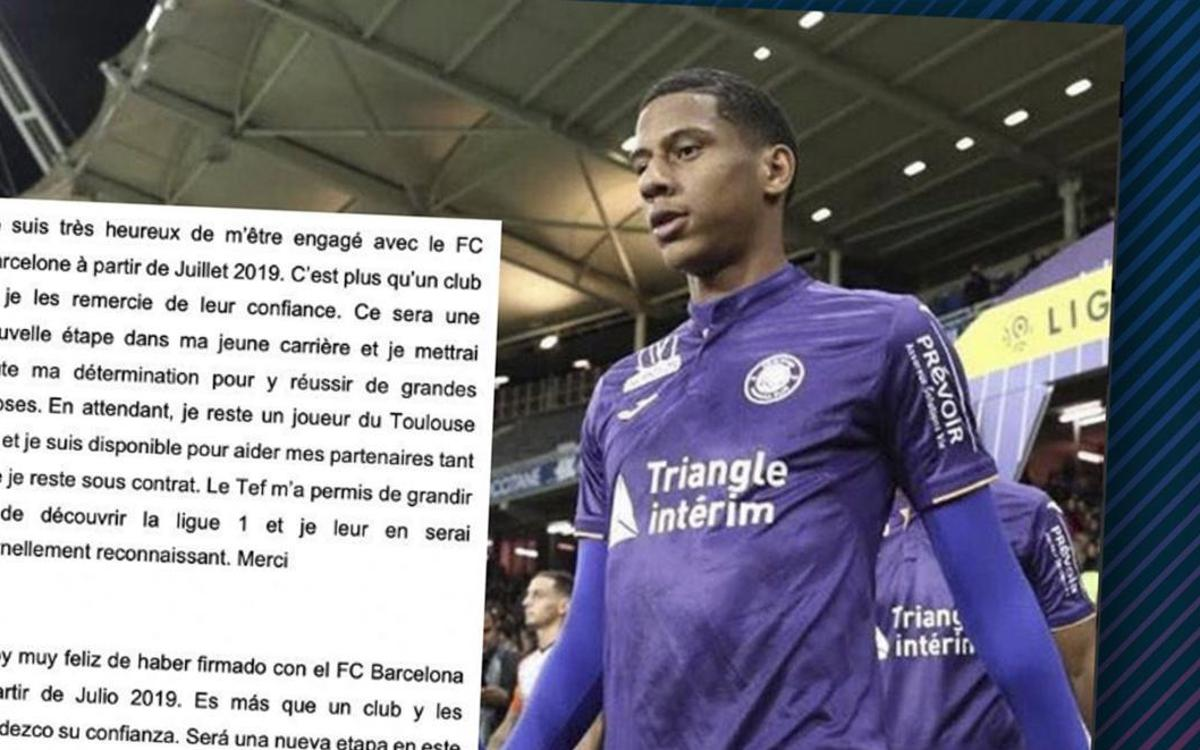 Todibo thrilled to be coming to Barça