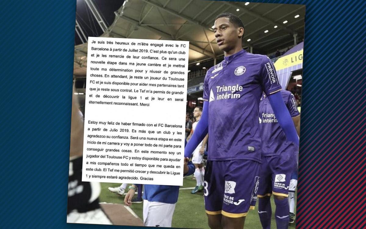 """Todibo: """"Estoy muy feliz de haber firmado con el Barça"""""""