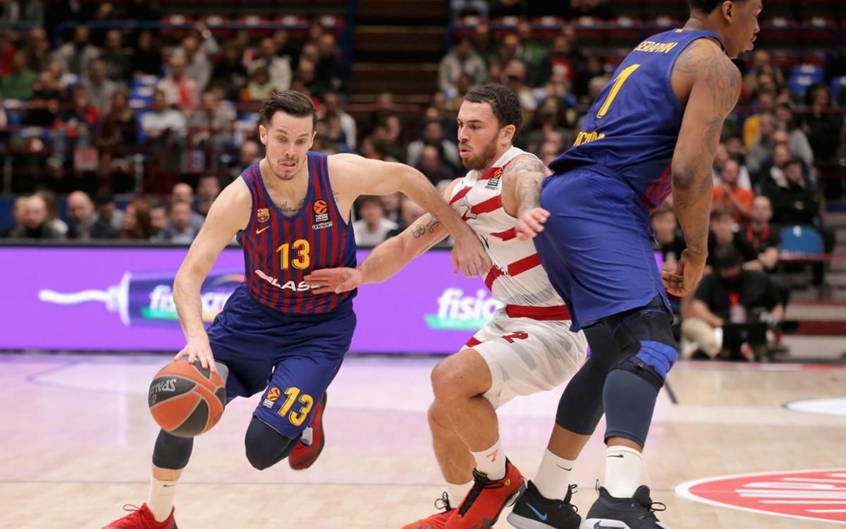 Olimpia Milan 85-90  Barça Lassa: Four wins in a row