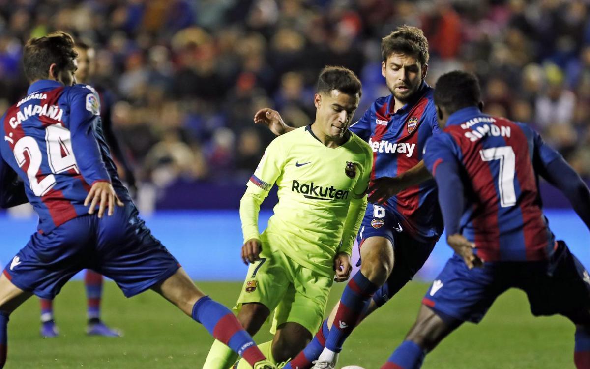 Levante - Barça: Todo por decidir en el Camp Nou (2-1)