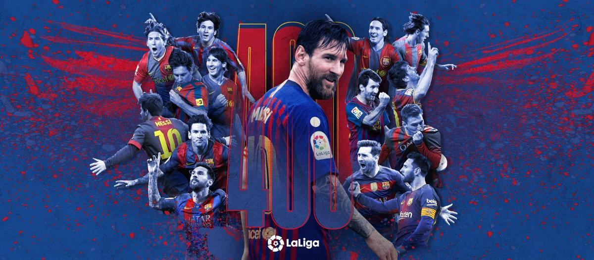 Messi se pone a 400