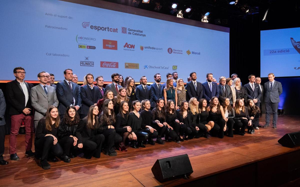 Jordi Alba i Navarro, premiats a la 22a Festa de l'Esport Català