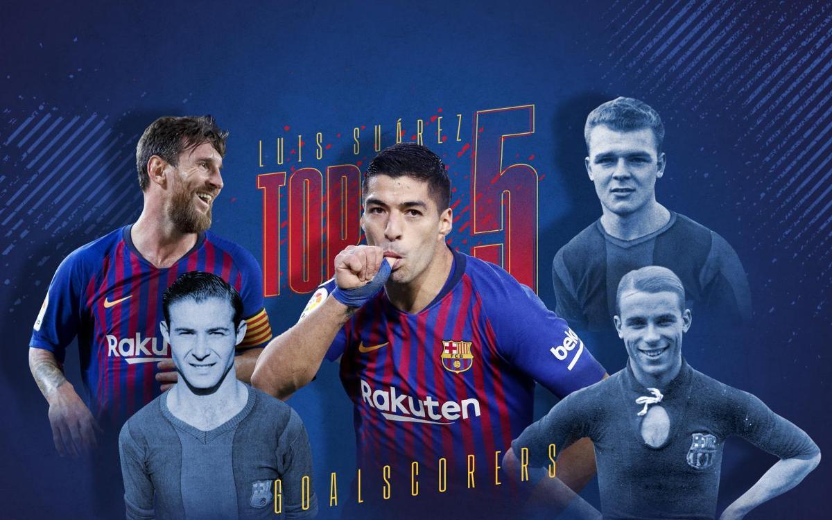 Suárez, dans le Top 5 des meilleurs buteurs de l'histoire du Barça