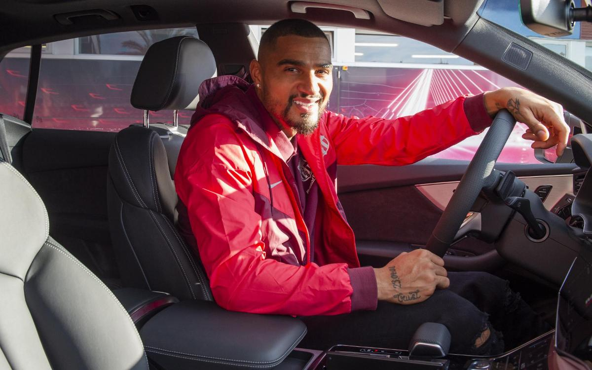 In the car with Kevin-Prince Boateng