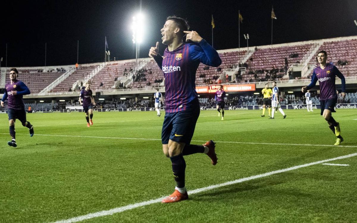 Barça B - CE Sabadell: Lluvia de goles en el Miniestadi (5-1)