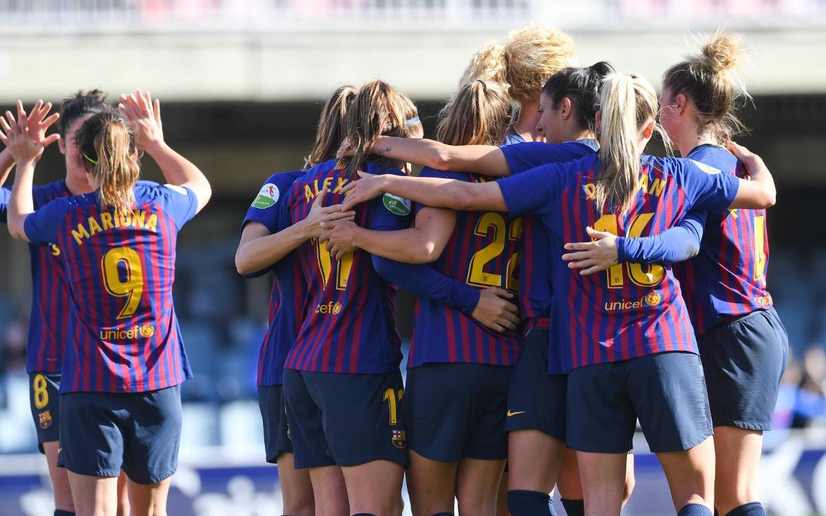 Barça Femenino - Athletic Club: Tres puntos vitales en el Miniestadi (2-1)