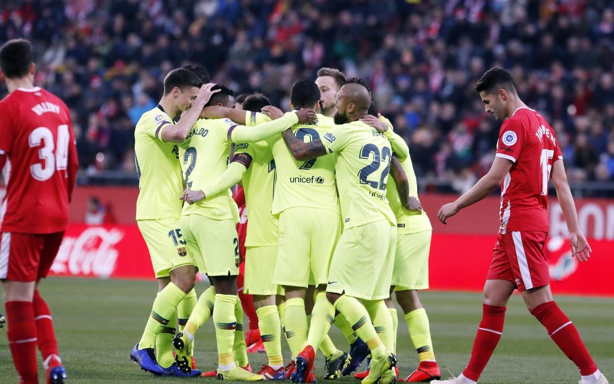 32 matches lors desquels le Barça a marqué à l'extérieur