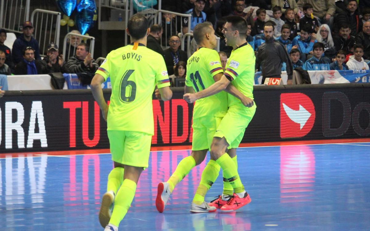 Peñíscola Rehabmedic – Barça Lassa: Ferrao rompe el muro (0-1)