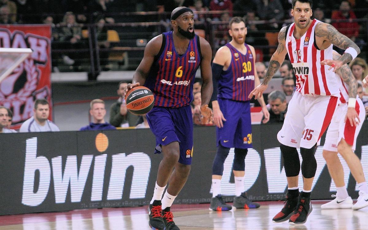 Olympiacos - Barça Lassa: Golpe de autoridad en el Pireo (55-76)