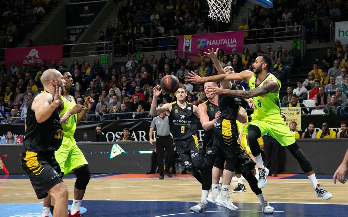 Iberostar Tenerife – Barça Lassa: Superats per la defensa canària (63-57)