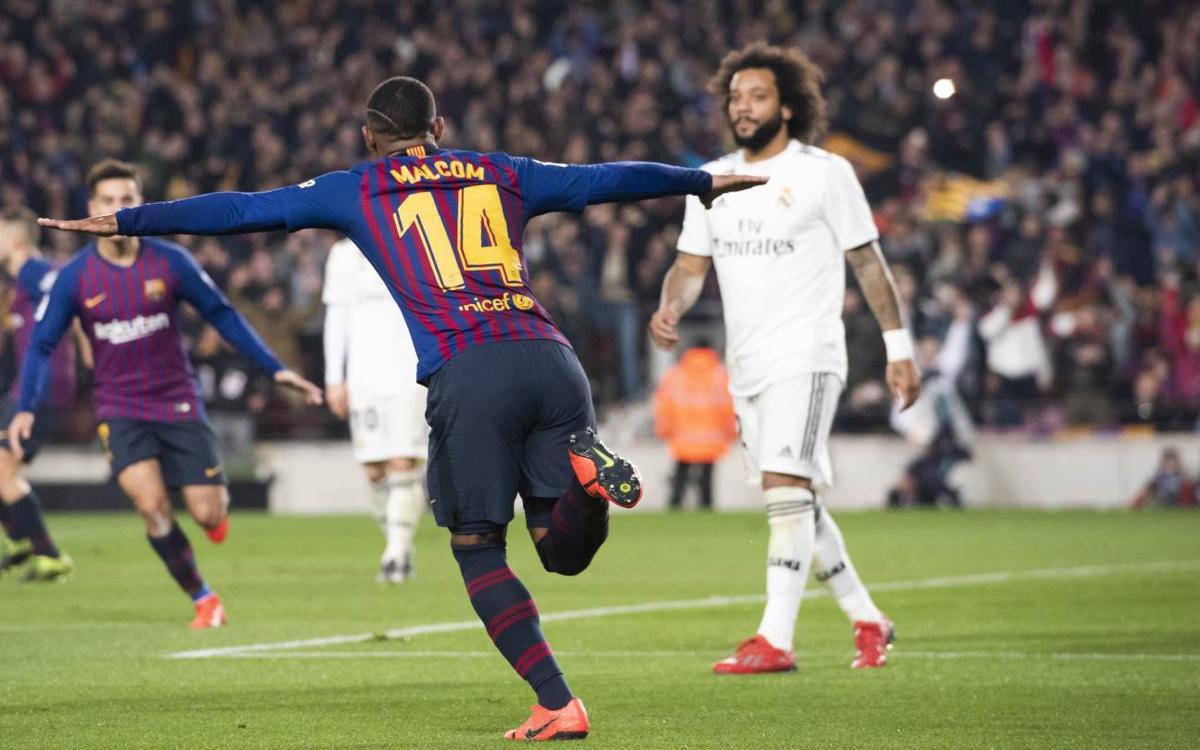 Malcom: debut amb gol en un Clàssic