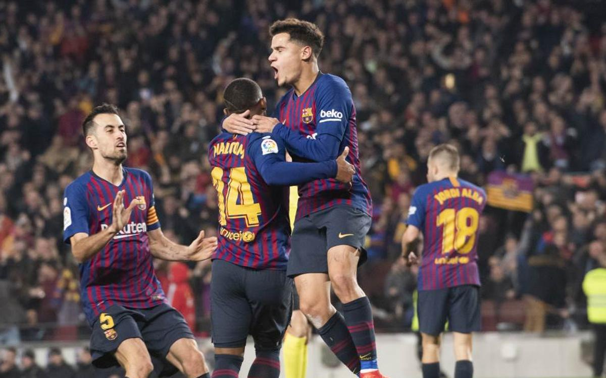 Sis anys sense perdre en Copa al Camp Nou