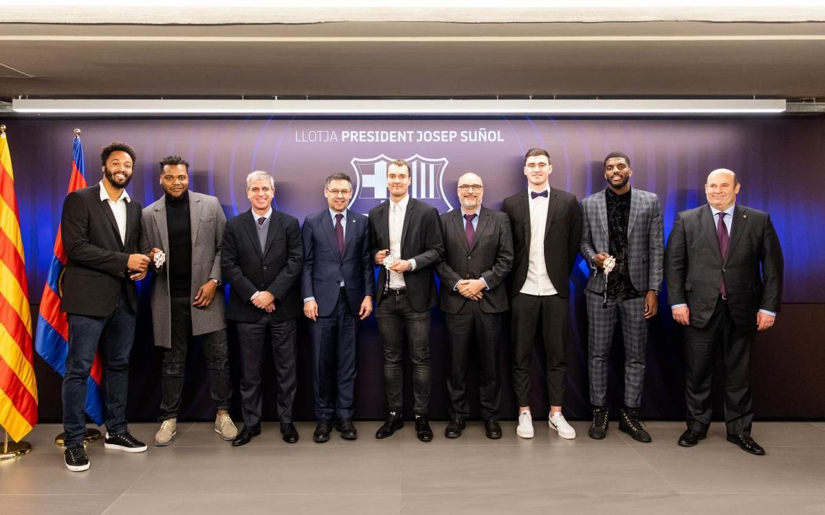 Reconeixement del Club als medallistes del Mundial