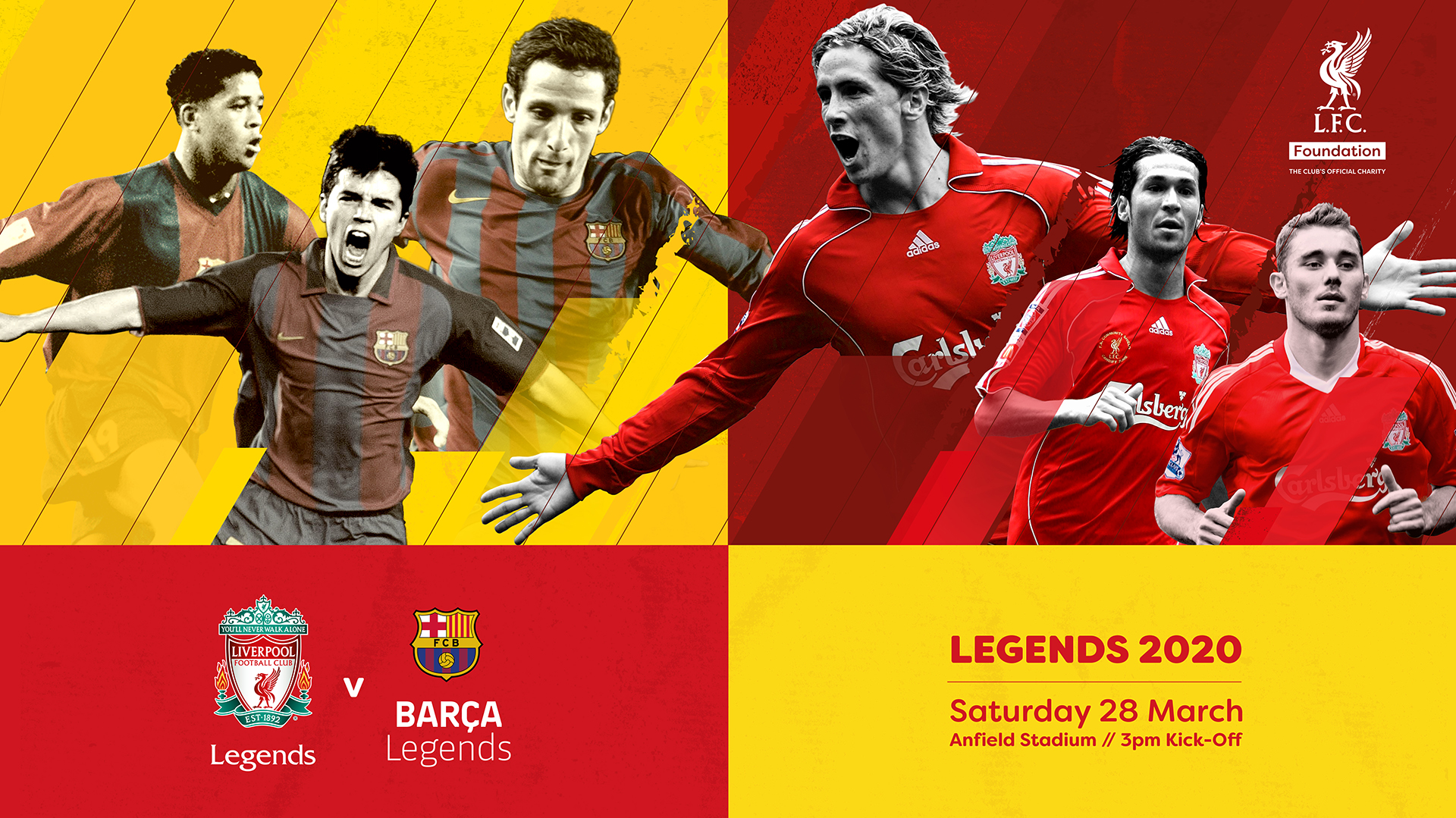 Barca Legends Will Face Liverpool Fc Legends On Saturday 28 March At Anfield