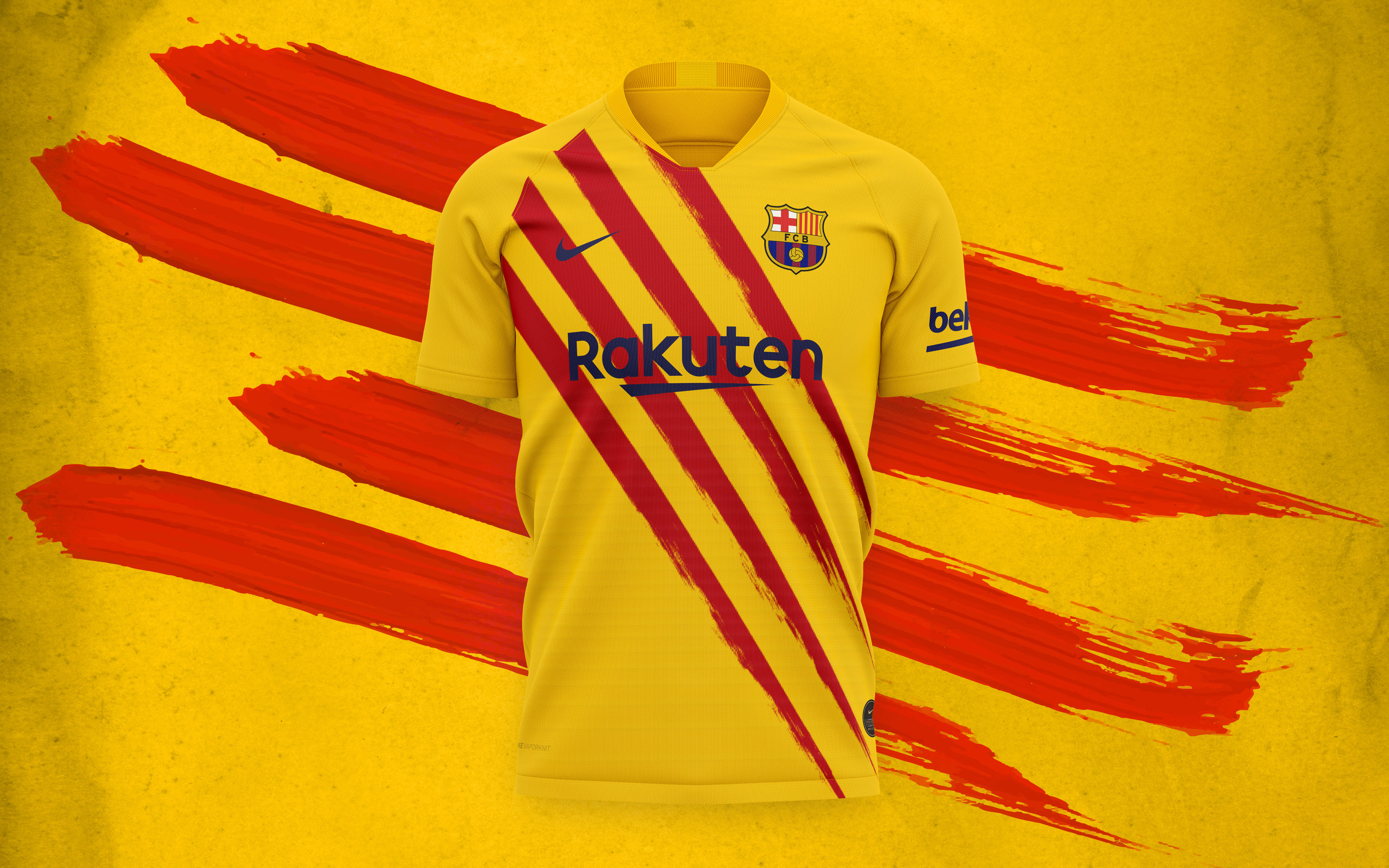 new barca kit honours club s roots by featuring colours of the catalan flag featuring colours of the catalan flag