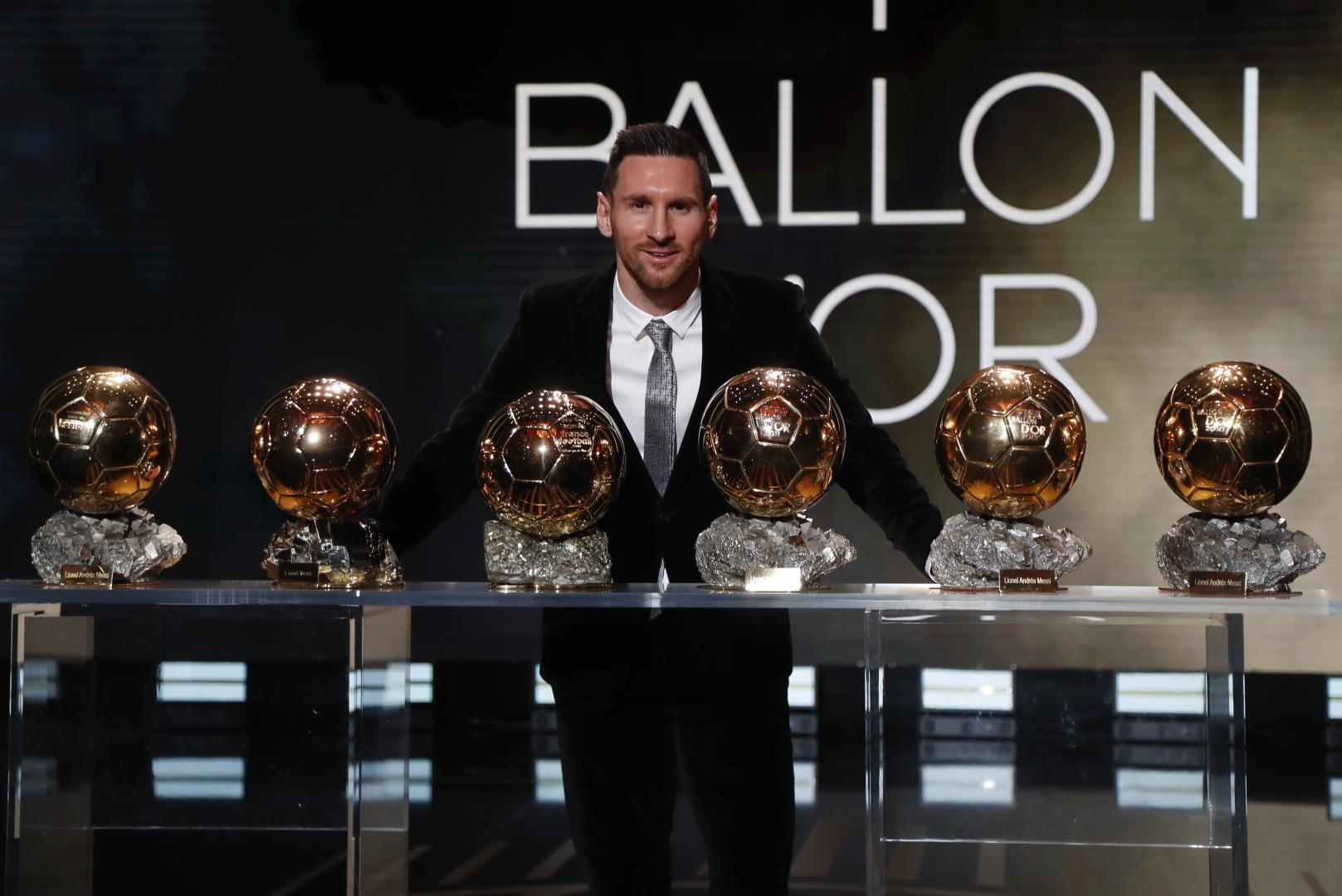 Leo Messi wins Ballon d'Or number six
