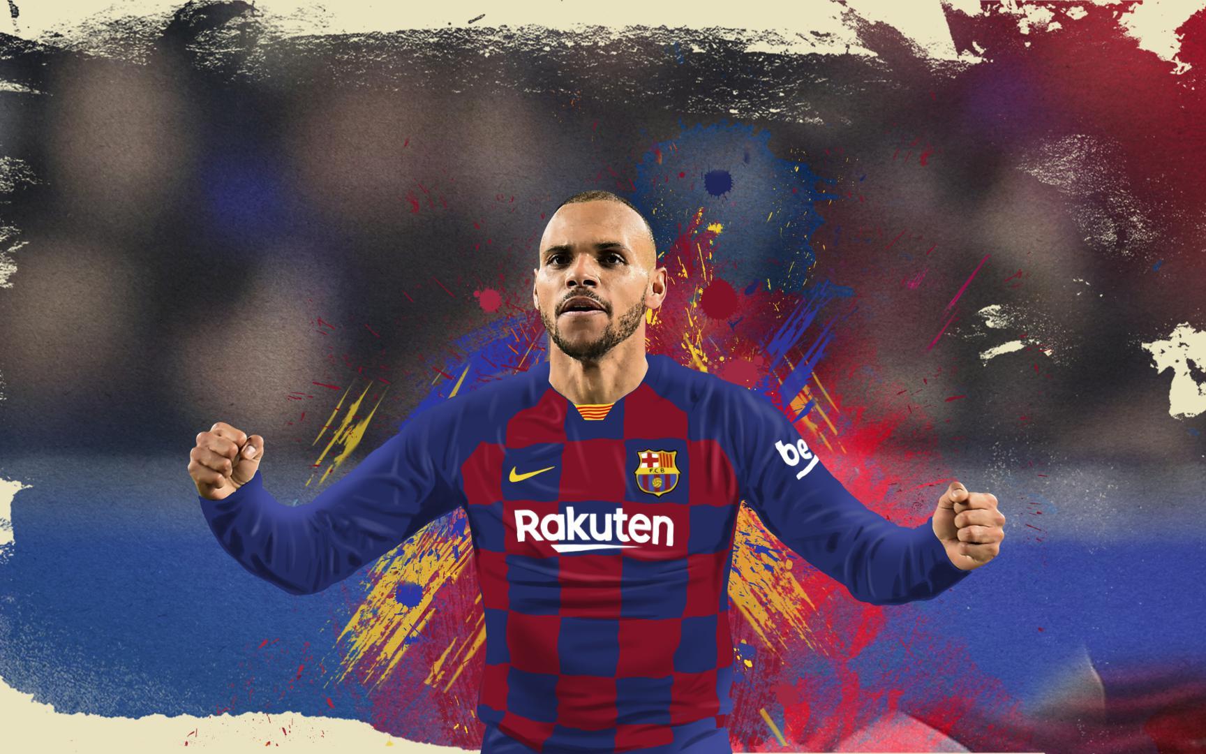 Barça ký hợp đồng với Martin Braithwaite