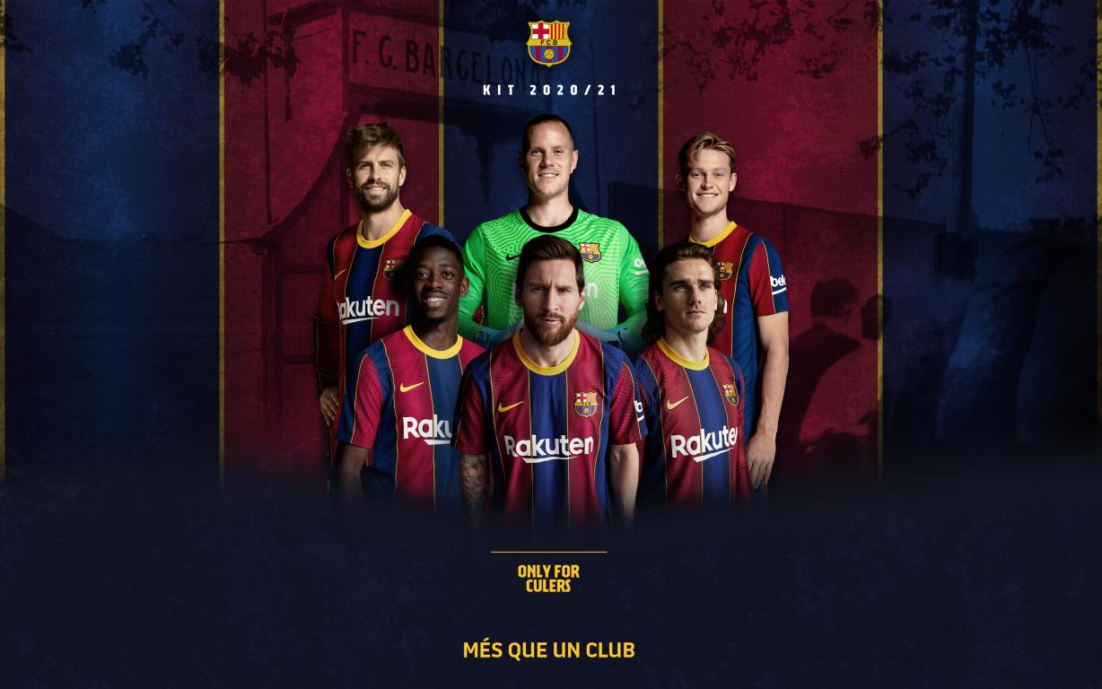 2020/21 Season 'Stadium' jersey now on sale at Barça stores and ...