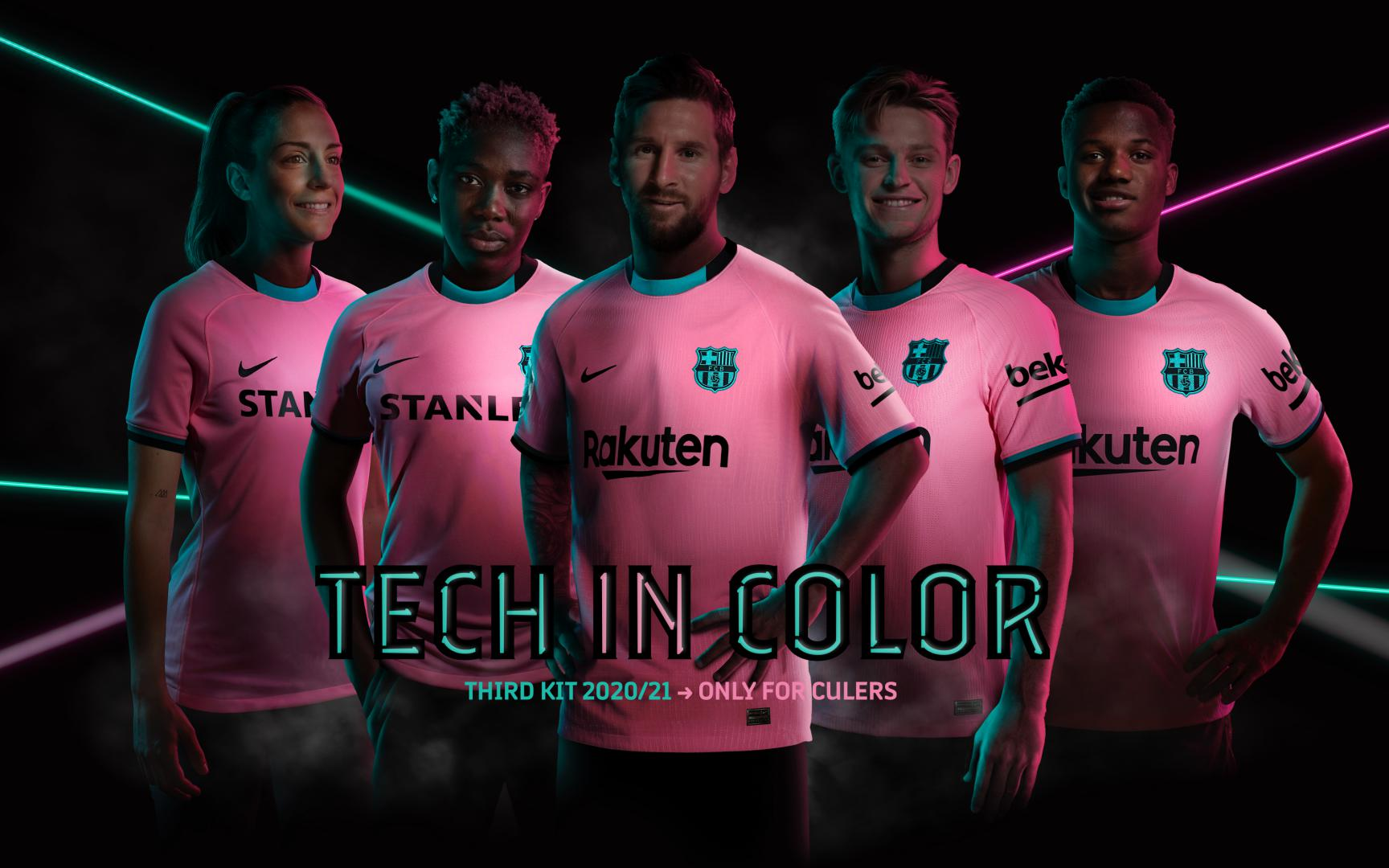 barca opts for pink and green third kit barca opts for pink and green third kit