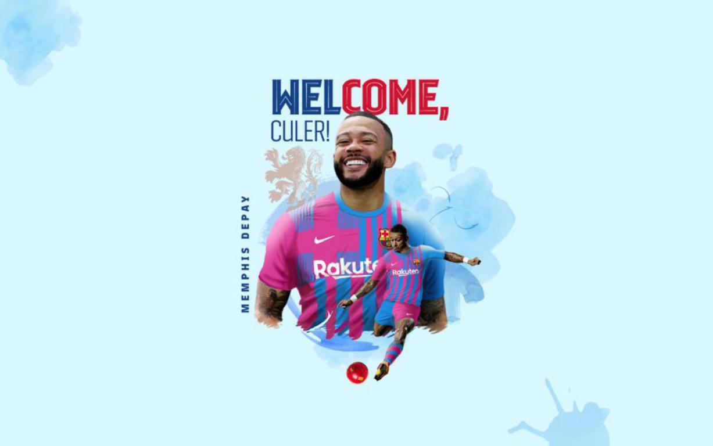 Memphis Depay gia nhập Barça