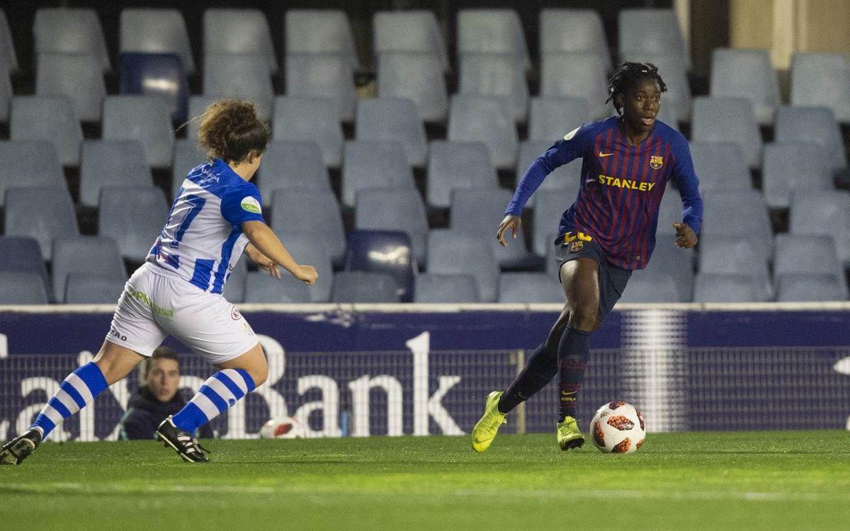 Barça Femenino - Sporting Huelva: Tropiezo en el Miniestadi (2-3)